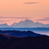 mont blanc, 250km verderop